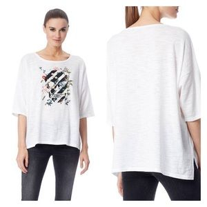 Skull Cashmere Fanny White Embroidered Sweater Top